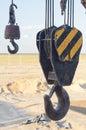Telescopic crane boom hook Stock Images