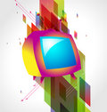Television on abstract background Royalty Free Stock Photography