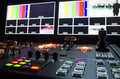 Television broadcast room hd control Stock Image