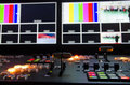 Television broadcast room hd control Royalty Free Stock Image