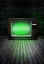Television with green glow Royalty Free Stock Photo