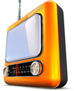 Television high resolution rendering of a retro tv Royalty Free Stock Photos