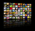Television production concept. TV movie panels Royalty Free Stock Photos