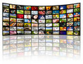 Television production concept. TV movie panels Royalty Free Stock Images