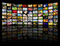 Television production concept. TV movie panels Royalty Free Stock Photo