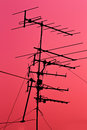 Television receiver on top of building Stock Photography
