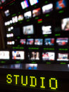 Television Studio Gallery Royalty Free Stock Photo