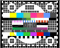 Television test screen Stock Images