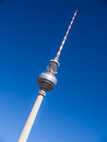 Television tower berlin Stock Photo