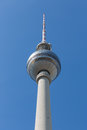 Television tower berlin germany located at alexanderplatz in Royalty Free Stock Photos