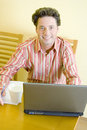Telework - Working home Royalty Free Stock Photo