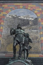 Tell monument in altdorf wilhelm the square of the cantonal capital of the canton of uri Royalty Free Stock Image