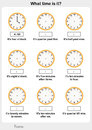 Telling time worksheet. worksheet for education Royalty Free Stock Photo