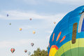 Temecula balloon and wine festival crats is a non profit hot air designed for kids with special needs it is the only wheel chair Stock Image