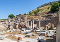 Temenos ruins ephesus turkey there used to be two temples between the prytaneum town hall and odeon concert hall they were Stock Images