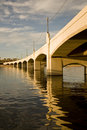 Tempe Mill Avenue Bridge Stock Photography