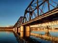 Tempe Railroad Bridge Stock Image