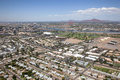 Tempe skyline arizona including apartments near campus Royalty Free Stock Image