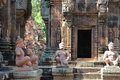 Tempel Banteay Srei in Angkor Royalty Free Stock Images