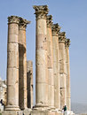 Tempel von Artemis, Jerash Stockfotografie