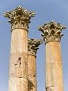 Tempel von Artemis, Jerash Stockbilder