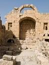 Tempel von Artemis, Jerash Stockbild