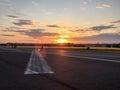 Tempelhofer feld on on a summer evening in berlin germany Stock Photos
