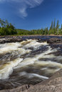 Temperance river a scenic with rapids in northern minnesota Royalty Free Stock Image
