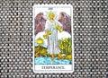 Temperance Tarot Card healing harmony adaptability Royalty Free Stock Photo