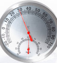 Temperature & humidity meter Royalty Free Stock Photography