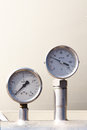 Temperature and pressure gauge Stock Images