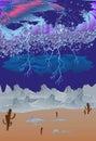 Tempesta nel deserto Immagini Stock Libere da Diritti