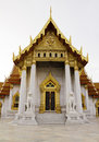 Tempiale di Benchamabophit di Bangkok Tailandia Fotografia Stock Libera da Diritti
