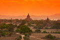 Tempie in bagan Fotografia Stock