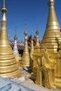 Tempio di thein della locanda di shwe ithein lago inle myanmar Fotografie Stock Libere da Diritti