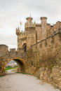 Templar castle ponferrada in leon spain Stock Photo