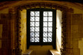 Templar church window in the in the portugal city of tomar Stock Photos