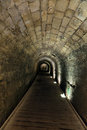 The templar tunnel in the old town of acco israel the templar tunnel is an underground tunnel residing beneat the town s streets Stock Photos