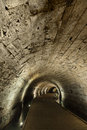 Templar tunnel old town acco israel templar tunnel underground tunnel residing beneat town s streets tunnel led templar palace Royalty Free Stock Image