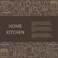 Template articles on home kitchen with space for your text.