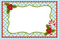 Template for baby's Xmas photo album Royalty Free Stock Photo