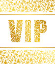 Template for a banner with the inscription VIP. Inscription VIP