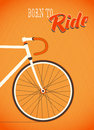 Template with bicycle theme vector art Royalty Free Stock Image