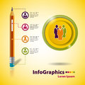 Template for business infographic on the basis of a pencil Royalty Free Stock Image