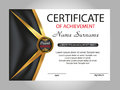 Template certificate of achievement. Elegant design. Vector