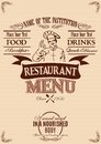 Template for cover of menu with chef Royalty Free Stock Photo