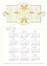 Template for decorative calendar Stock Images