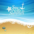 Template design. Cartoon background with beach