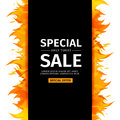 Template design vertical banner with Special sale. Black card for hot offer Royalty Free Stock Photo