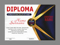 Template diploma or certificate. Elegant design. Vector